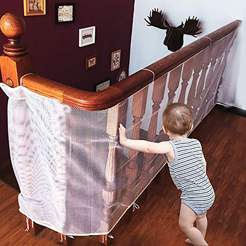 Baby Gate Kids Safety Thickening Fence Children Protection Safety Products Balcony Stair Gate Mesh Portable Fence For Children