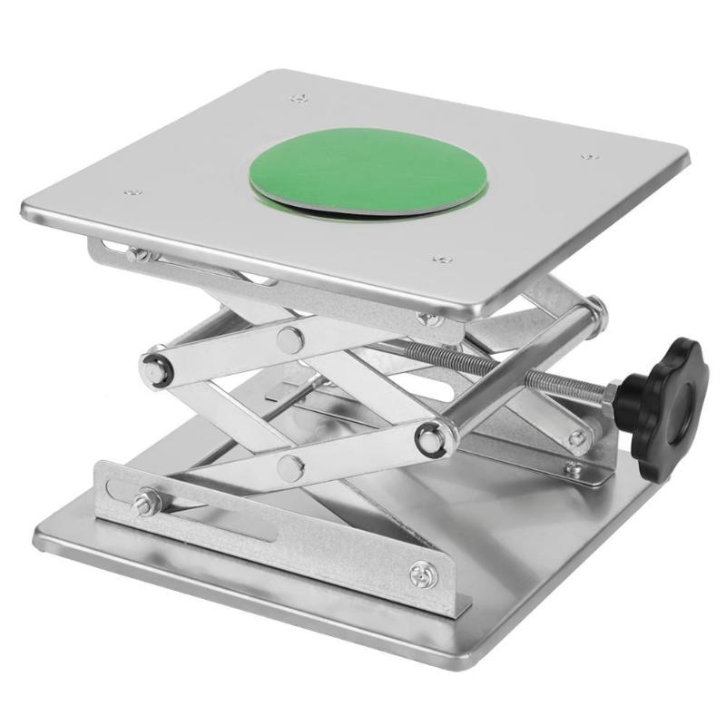 Stainless Steel Router Lift Table Practical Carving Lifting Platform Worktable Rust-proof Handwheel Woodworking Tools Bench