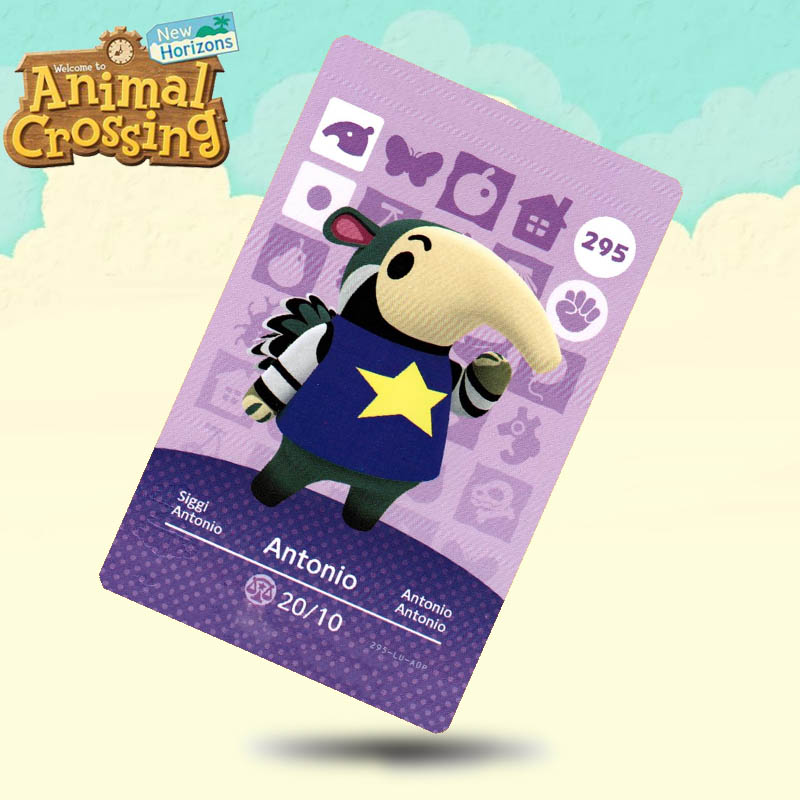 295 Antonio Animal Crossing Card Amiibo Cards Work For Switch NS 3DS Games