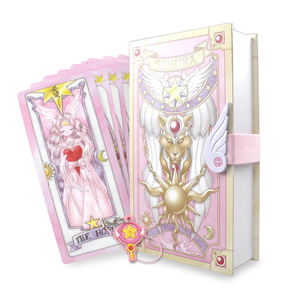 Image 2 - Anime Card Captor Sakura KINOMOTO Ação Figurado Papel Impresso O cartão de Clow cards Magic Coleção Cosplay Set boneca Novos Presentes