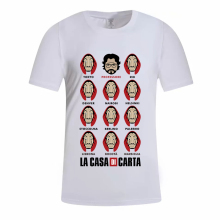 Hillbilly La Casa De Papel Women Tshirt Money Heist The House of Paper Camiseta T Shirt Dali Mask Short Sleeve Top