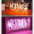 Светодиодный стеклянный неоновый светильник  новинка  ресторанные неоновые вывески  магазин  концертный зал  гостиная  атмосферная лампа  р...