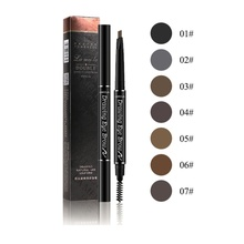 New Double-Head Eyebrow Pencil Waterproof Pen Long-Lasting Smudge-Proof Makeup