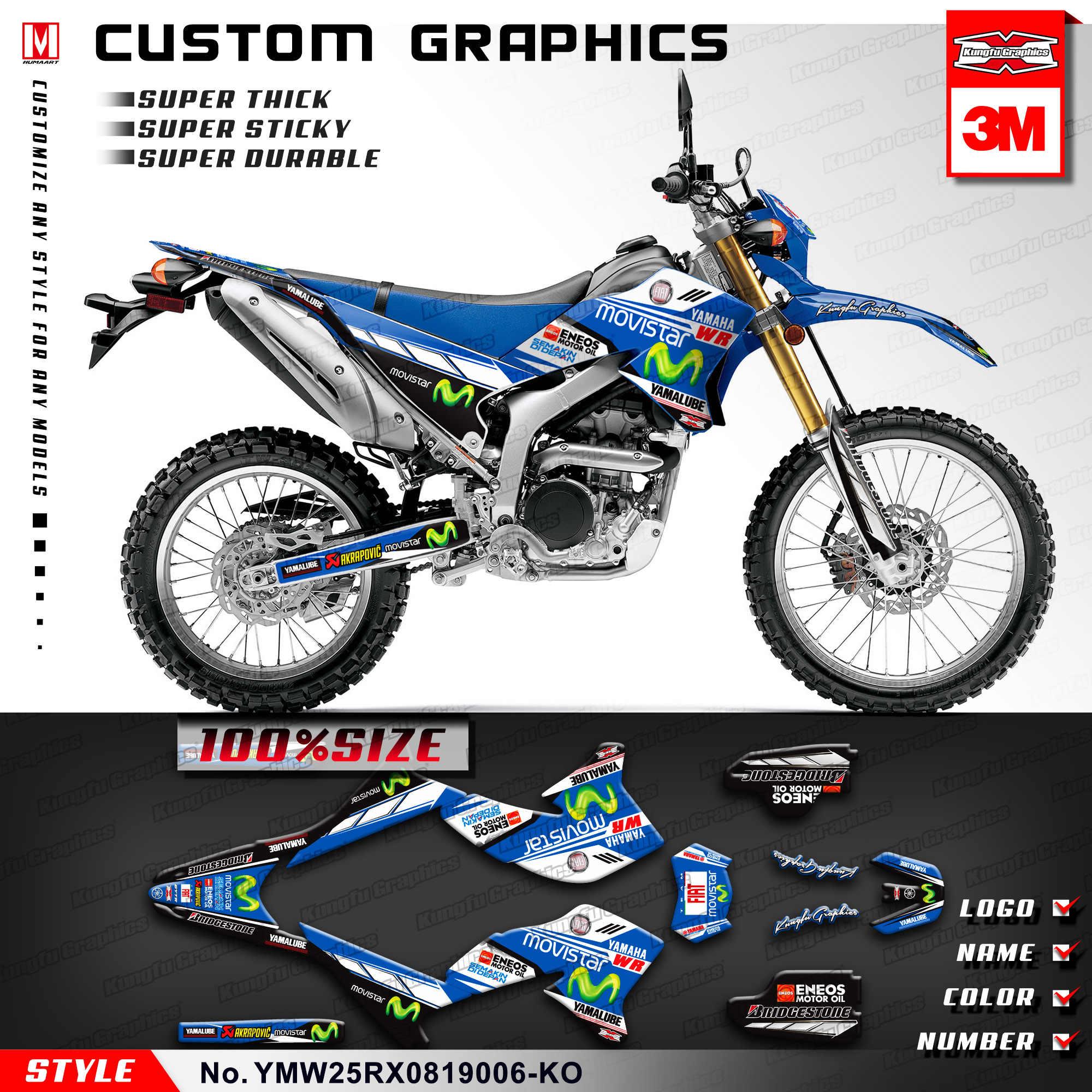 Kungfu graphics dirt bike motorcycle decals custom stickers