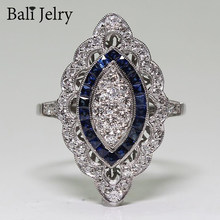 Bali jelry retro charme anel para mulher 925 prata jóias safira zircão anel de pedra preciosa casamento noivado ornamento dropshipping
