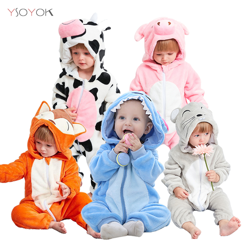 2019 Baby Pajamas Cartoon Stitch Clothes For Sleeping Girl Rompers Kids Baby Sleepwear Boy Animal Panda Infant Children Jumpsuit