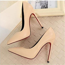 Купить с кэшбэком 2020 HOT Women Shoes Pointed Toe Pumps Patent Leather Dress Shoes High Heels Boat Shoes Wedding Shoes Zapatos Mujer