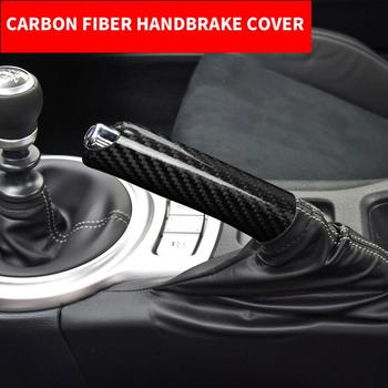 Car Interior Carbon Fiber Handbrake Cover Handle Protector Grip Hand Brake Case Accessories For Subaru BRZ Toyota 86 2013-2020
