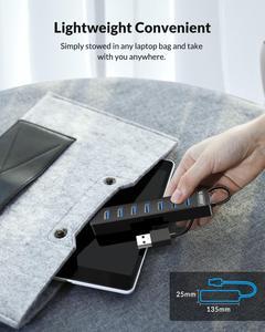 Image 5 - HUB USB 3.0 a 7 porte ad alta velocità ORICO con porta di alimentazione di tipo C adattatore OTG Splitter USB SD TF per accessori Desktop per Laptop