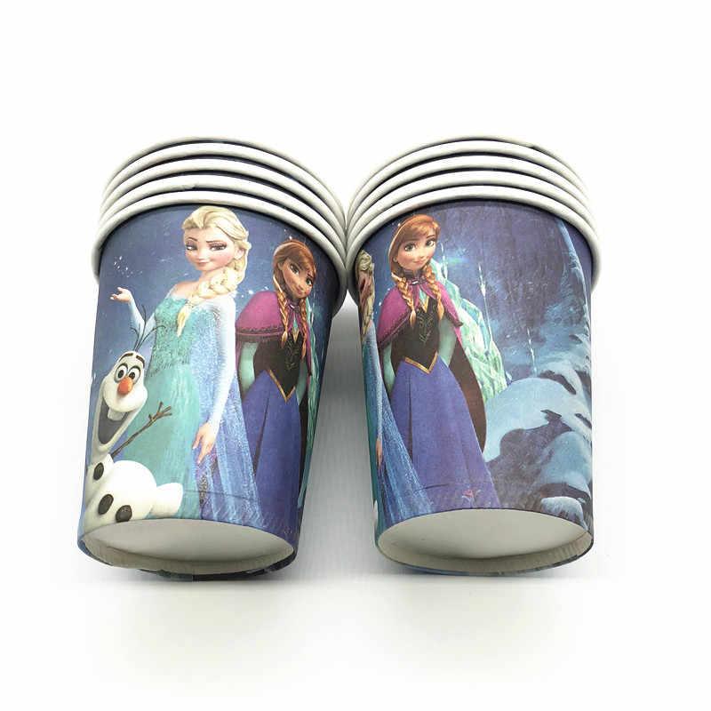 61 pcs//veel Disney Frozen Thema Baby Shower Kind Meisjes Verjaardag Partij Decoratie Papier Cup Plaat Tafelkleed Vlaggen Partij levert