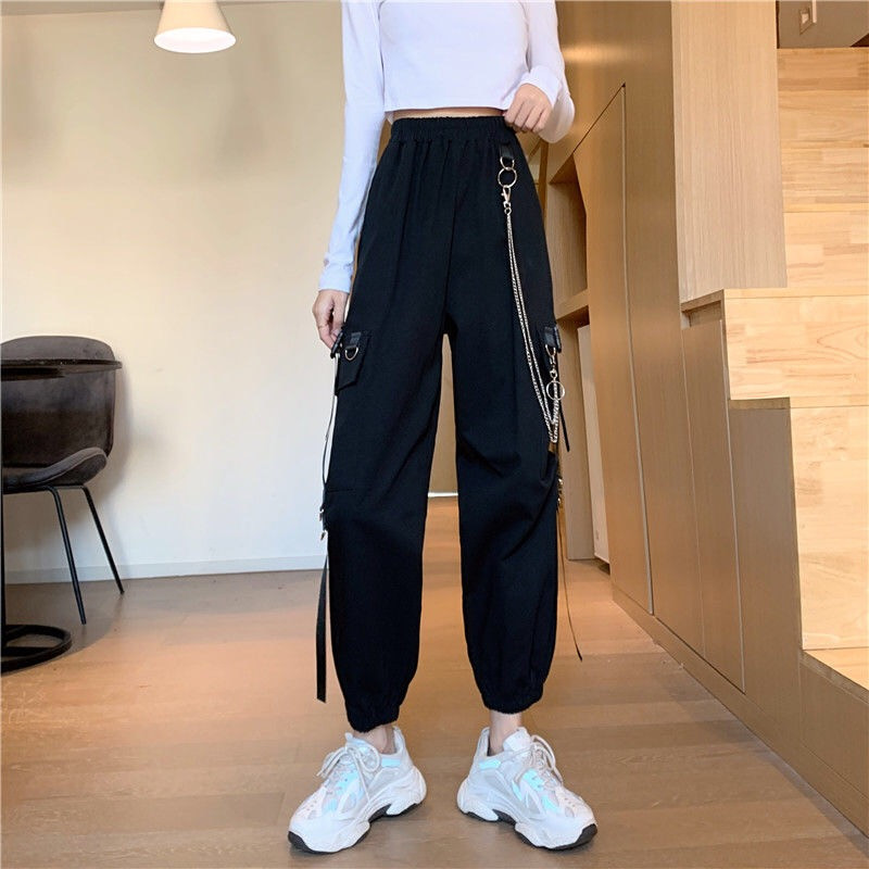 Autumn Cargo Pants Streetwear Hip Hop High Waist Sweat Trousers Joggers Women Pantalones Anchos Mujer Plus Size Summer Spodnie Buy At The Price Of 10 30 In Aliexpress Com Imall Com