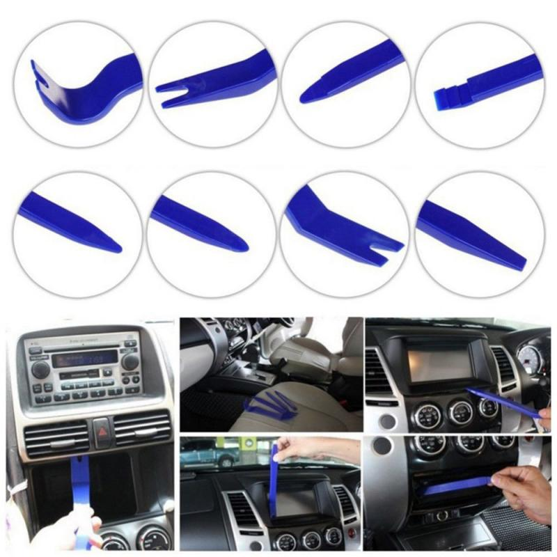 Plastic Panel Molding Kit Set Pliers Tools Pry Car Disassembly Tool Special Disassembly Tool 8Pcs Car Trim Removal Tool Door