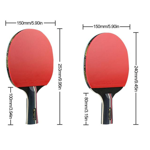 2pcs new upgraded paddle rubber carbon table tennis racket set super powerful ping pong racket bat for adult club training