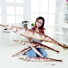 Salted saury fish salted pillow creative plush marine animal cartoon soft stuffed toy 55 cm -135 1PCS WJ184