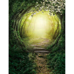 Image 3 - Allenjoy spring backdrop in wonderland party flowers snow white Forest photography background child fairy tale photophone