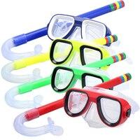 Professionelle Tauchen Maske und Schnorchel Brille Anti Fog Goggle Maske Gläser Tauchen Schwimmen Einfache Atem Tube Set Kinder kind-in Tauchmasken aus Sport und Unterhaltung bei
