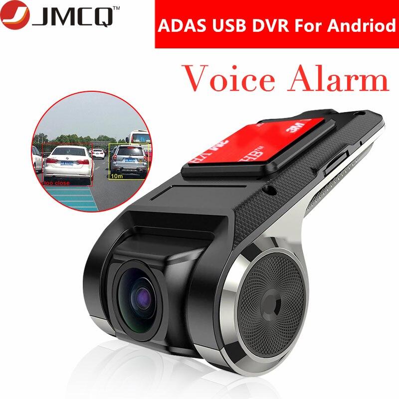 USB ADAS Car DVR Dash Cam Full HD 1080P For Car DVD Android Player Navigation Floating Window Display Voice Alarm LDWS G-Shock