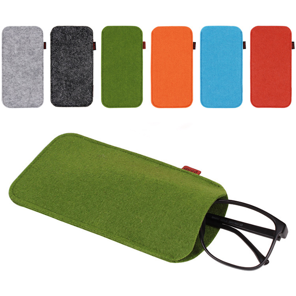 1pcs Portable Unisex Glasses Case Soft Felt Cloth Sunglasses Bag Glasses Pouch Eyewear Protector Glasses Accessories