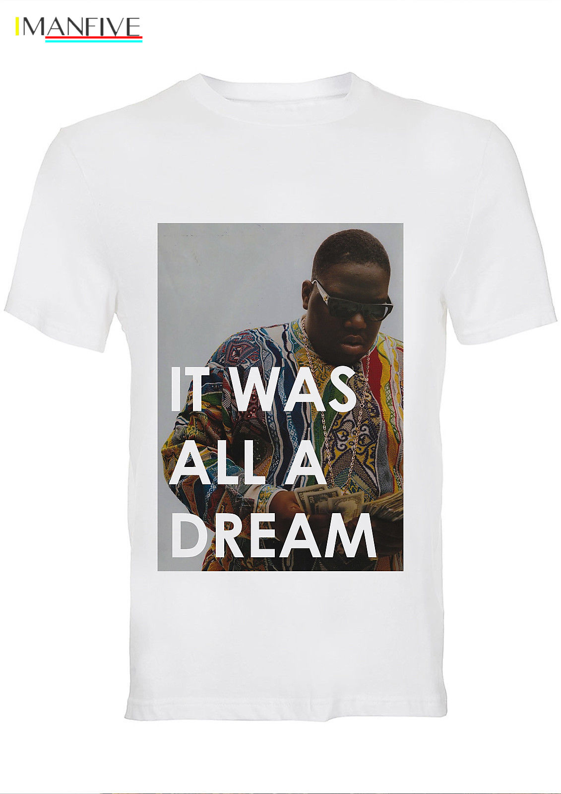 BIG Notorious Biggie It Was All A Dream Cotton Crew Neck T-Shirt / 46_MTSF T Shirt Discount 100 % Cotton T Shirt For Men'S