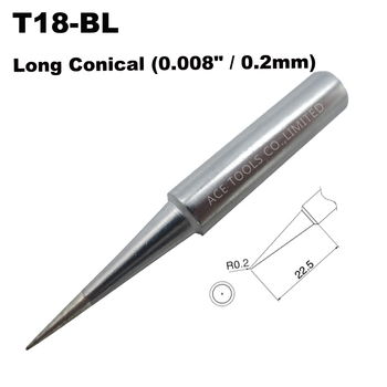 Soldering Tip T18-BL Conical 0.2mm 0.008Fit HAKKO FX-888 FX-888D FX-8801 FX-600 Lead Free Iron Bit Nozzle Welding Pencil image