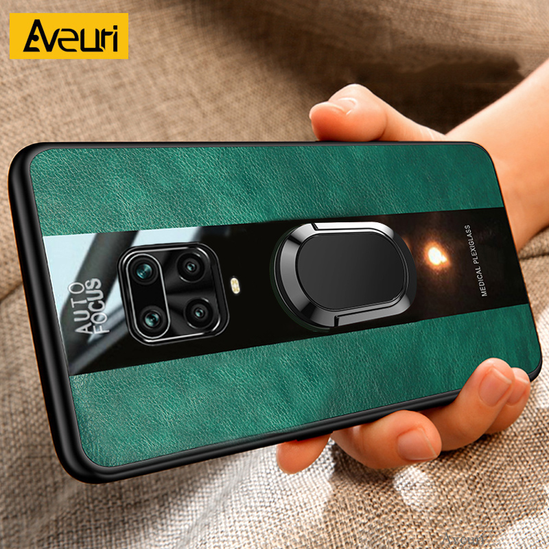 Magnetic Car Holder Phone Case For Xiaomi Mi 8 9 Note 10 Lite 9T Pro Leather Cover Case For Redmi Note 9S 9 S 7 8 Pro 8T 8A K20(China)