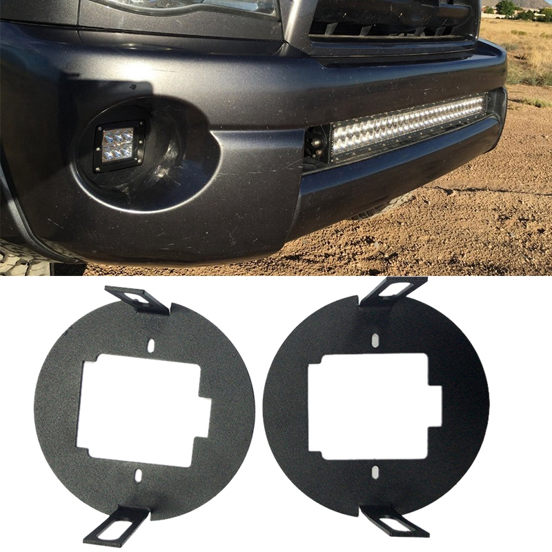 Front Fog Light-Hidden Bumper Foglamp Kit For Toyota-Tundra 2007-2013 / Tacoma 2005-2011 Fog Light LED Pod Replacement Brackets