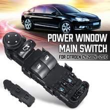 Coche eléctrico Ventana principal interruptor de Control de 9 Pin 9651464277 6554.HE para Citroen C4 2004, 2005, 2006, 2007, 2008, 2009, 2010