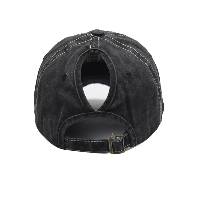 SLECKTON 2020 Casual Ponytail Cotton Baseball Cap Fashion Snapback Visors Caps Hip Hop Fitted Cap Embroidered Sun Hats for Women 6