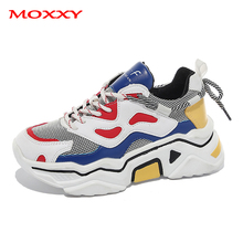 2019 New Women Fashion Sneakers Shoes Casual Dad Chunky Sneaker Platform Thick Sole Ugly Vintage chaussures femme