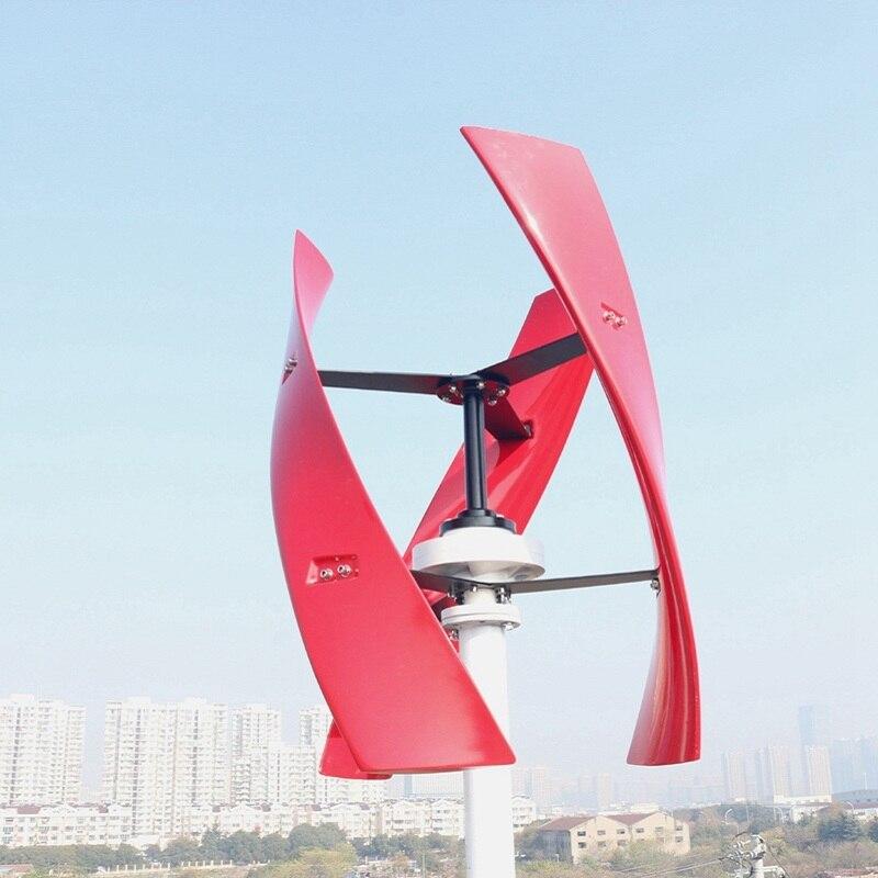 R & X 300 w/500 w rouge Vertical éolienne générateur Maglev 3-lames moulin à vent 12 v/24 v silencieux prix usine contrôleur gratuit - 3