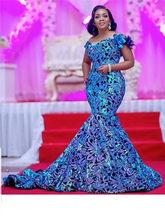 Dentelle en velours et paillettes, tissu africain classique de haute qualité pour robe de soirée de mariage