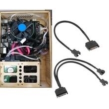 SATA 15 контакт к 3 контакт% 2F4 контакт ноутбук материнская плата процессор вентилятор удлинитель кабель адаптер +