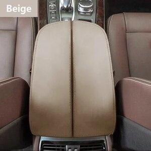 Image 2 - 마이크로 화이버 가죽 자동차 센터 콘솔 팔걸이 패드 커버 케이스 보호 트림 BMW X5 E70 2007   2013 / F15 2014   2018