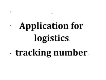 Application for logistics tracking number China Post Registered Air Mail image