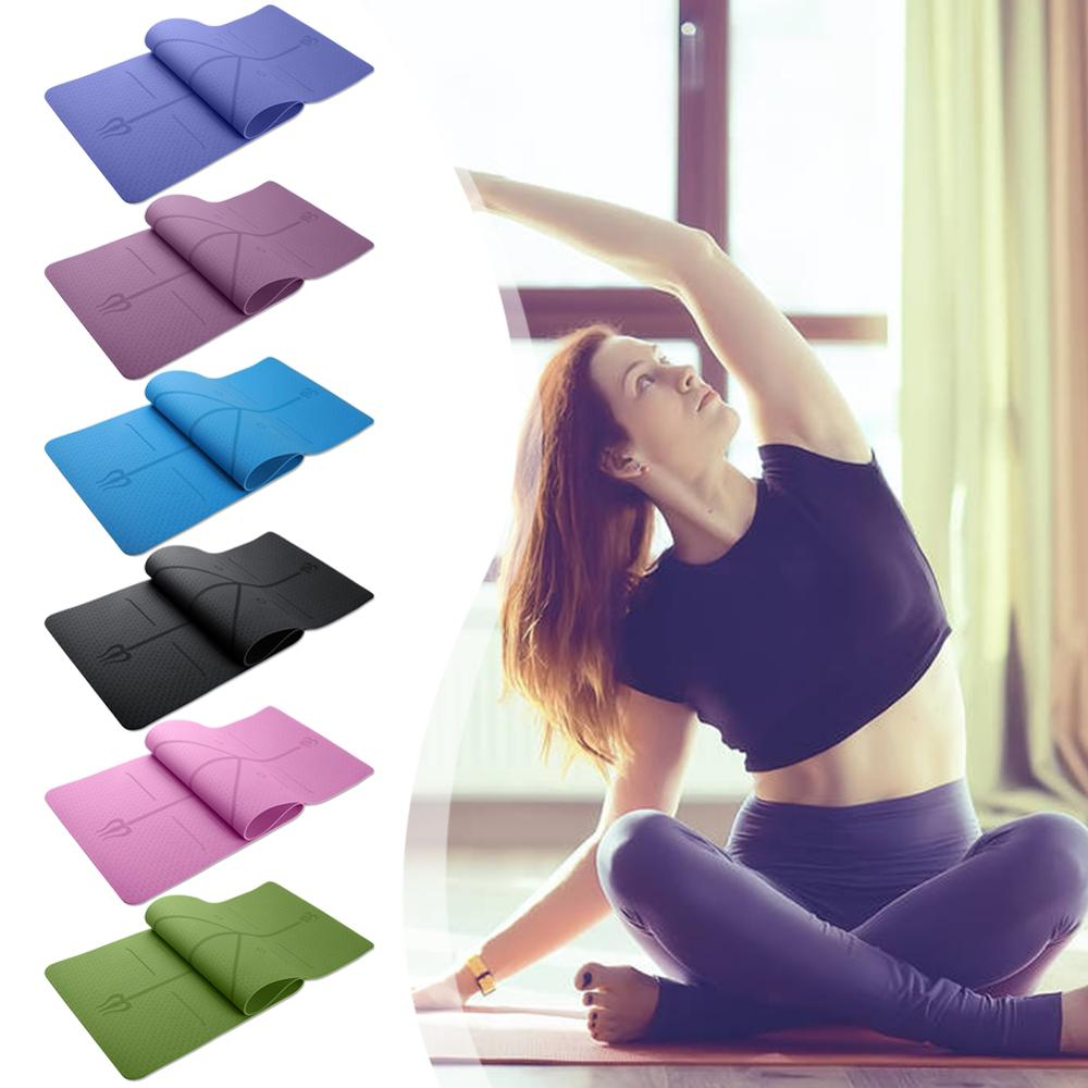 Universal Outdoor 6mm TPE Non-slip Yoga Mats Tasteless Pilates Gym Exercise Sport Pads For Fitness And Body Building