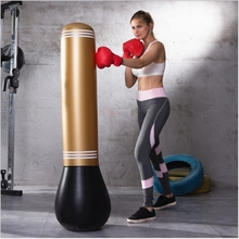 New PVC Inflatable Punching Post Tumbler Toys boxing as martial arts equipment Boxing gloves Roly-poly Sandbag