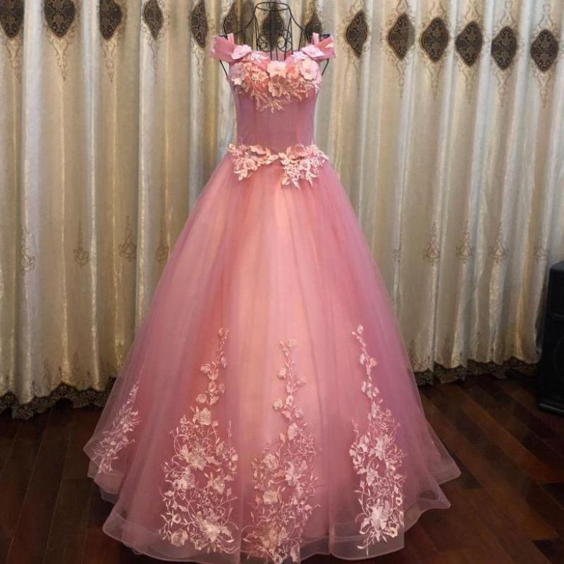Quinceanera Dresses Off The Shoulder Party Prom Luxury Lace Floor-length Ball Gown Vintage Vestidos De 15 Anos Quinceanera Dress