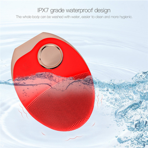 Image 4 - ミニ電気超音波ワイヤレス充電洗顔ブラシシリコーン充電式光子と顔防水マッサージ 40