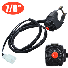 For Motorcycle Motorbike Quad 1PC 7/8 Handlebar Kill Stop Switch Horn Button High Quality With 80cm Cable Treyues