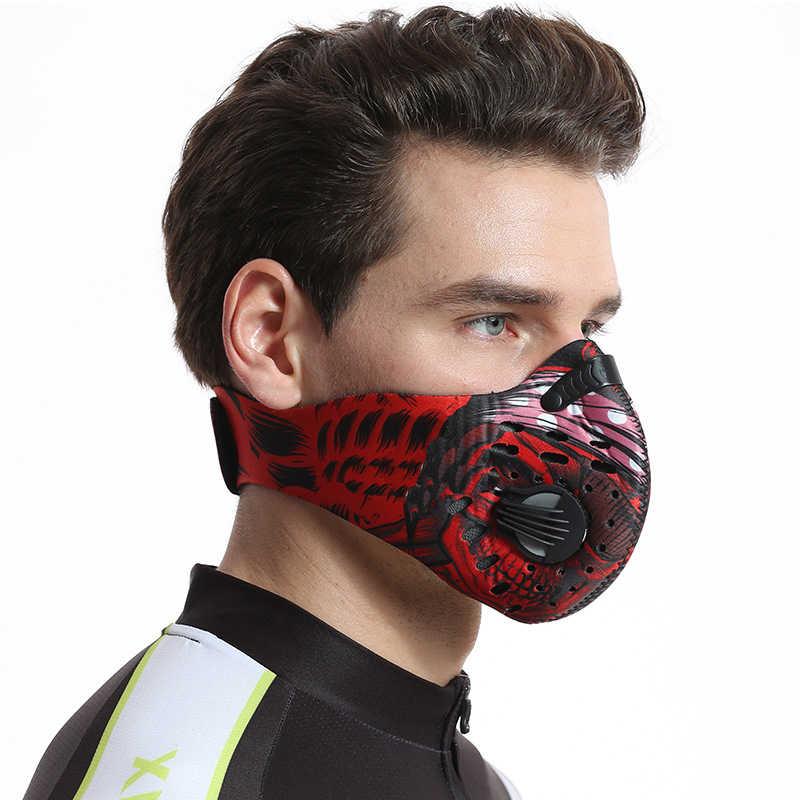 Fietsen hlaf Gezichtsmasker Mannen/Vrouwen Activated Carbon ski stofdicht Anti-Vervuiling Fiets Outdoor Training masker gezicht shield