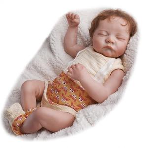 RSG Bebe Reborn Doll 19 Inches Lifelike Newborn Cute Sleeping Reborn Baby Vinyl Doll Gift Toy for Children