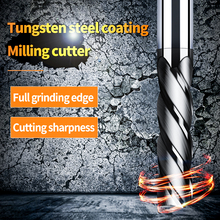 Endmill Cutting HRC50 4 Flute Mill 3mm 4mm 6mm 8mm 10mm 12mm Alloy Carbide Tungsten Steel Milling Cutter End Metal