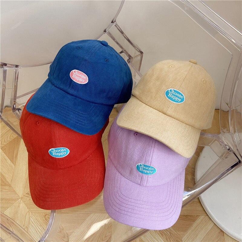 Интернет-знаменитость Корейская бейсболка Стиль повседневные все-матч с вышитыми буквами модная шапка Модные мужские и женские шляпы от со...