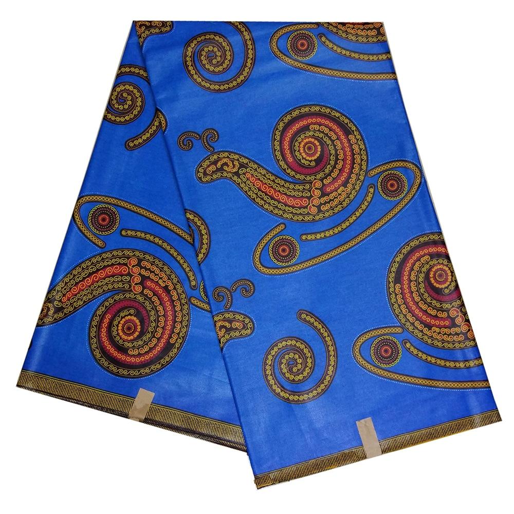 African Fabric 100% Cotton Nigerian Ankara Real Dutch Wax High Quality Blue African Wax Print Snail Pattern Fabric