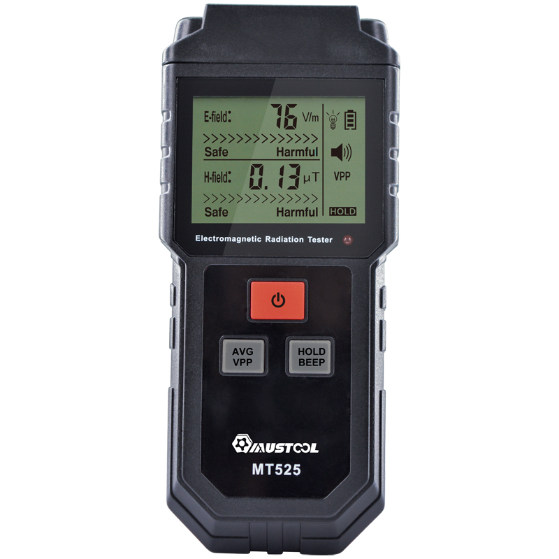 MUSTOOL MT525 Electromagnetic Radiation Tester Electric Field & Magnetic Field Dosimeter Tester Sound And Light Alarm
