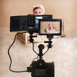 Image 5 - Viltrox VL 125 125mm DSLR Triple Hot Shoe V Mount Flash Bracket for Video Lights Microphones Monitors to Cameras Camcorders