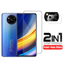 Screen Protector For Xiaomi Poco X3 Pro Tempered Glass Camera Lens Film 2 in 1 Protective Glass on Xiaomi Poco X3 Pro Glass