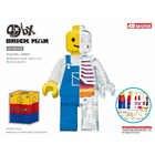 4D MASTER Authentic Artist Mighty Jaxx 12inch assembling bricks worker