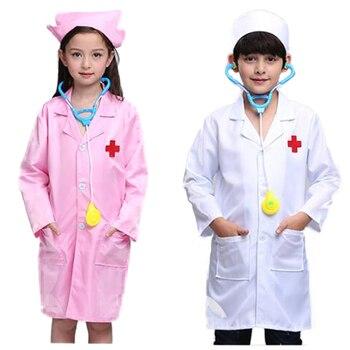 Traje de juego de rol medico para bata de laboratorio Kit medico...