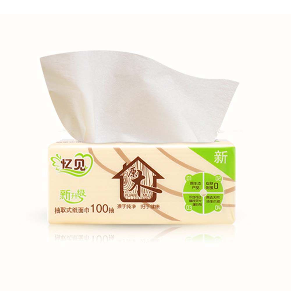 Virgin Wood Pulp Bamboo Facial Tissues Eco-Friendly Recycled Paper Home Use Soft Facial Tissue (300sheets/pack) Toilet Paper